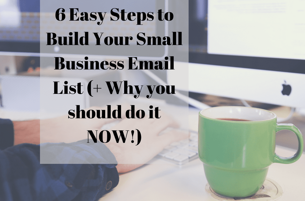 6 Easy Steps to Build Your Small Business Email List (+ Why you should do it NOW!)