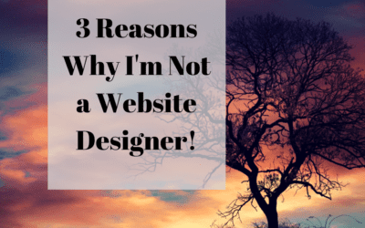 3 Reasons Why I'm Not a Website Designer!